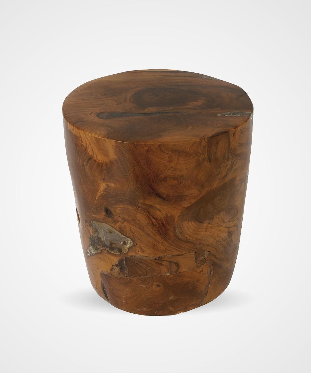 Taburete de madera y resina - Taburete de madera ...