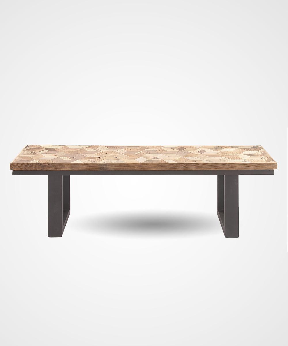 Banco de madera y hierro - Banco de madera para cocina ...